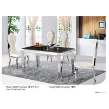 Rectangle Dining Table with Glass/Marble (T055)