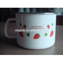 china supplier custom logo black color custom enamel mug
