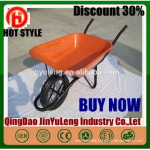 Wholesale low price WB6400 French concrete wheelbarrow commercial power wheelbarrow for seal