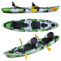 2020 New Arrival 12ft 2+1 3 seaters sit on top fishing kayak with backseat or frame chair