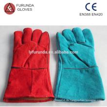 13 Zoll Kuh Split Leder Schweißen Handschuhe mit Baumwoll-Liner