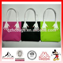 Mode doigt broderie toile sac à provisions version double face imprimé sacs de plage Casual femmes sacs à main fourre-tout