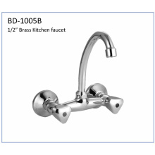 Bd1005b Double Knobs Brass Kitchen Faucet
