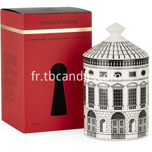 house picture ceramic scented candles with roof lid