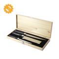 2019 trend  japanese 7cr17 440c meat santoku knife set with pakka wood handle