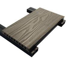 Decking composto plástico de madeira do Decking de Wpc do Decking exterior de 200 * 25