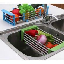 Flexible Stainless Steel Draining Rack for Kitchen Sink