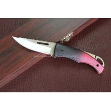 Cuchillo de aluminio de la manija que acampa (SE-0276)