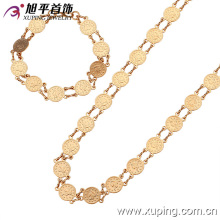 62714 xuping best selling fashion simple and easy 2 piece jewelry sets 18k gold plated