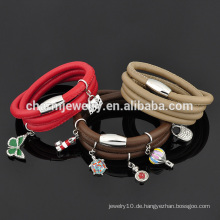 Großhandel 2016 Fashion Style Leder Wrap Armband Design für Mädchen SW-LB014