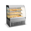 Bakery open style Curved Glass Cake Refrigerator Showcase