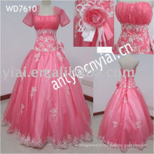 WD7610 Princess White And Pink Wedding Dresses