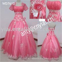 WD7610 Princesa Branco e rosa vestidos de noiva