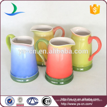 Wholesale colors hand painted ceramic bathroom jug