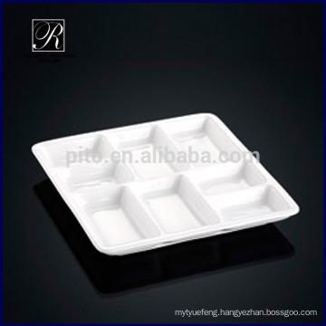 2015 pretty design porcelain 3 parts compartment saucer dish