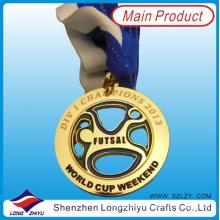 Medalla de recuerdo de metal de moda para niños con colgador de medalla de color Match
