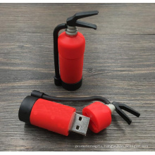 Personality shape Promotional Gift PVC USB Stick  Custom Fire Series Shape   USB Flash Drive