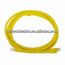 light yellow cat5e patch cord 568A