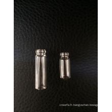 Mini clair tubulaire vissé flacon en verre pour l'emballage de parfum