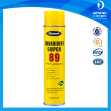 High quality embroidery spray adhesive 89 for textile