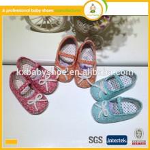Hersteller in Ningbo weichen Baumwollgewebe Mode Kinder Kleid Schuhe