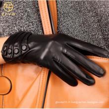 ZF0006 Gants en cuir véritable pour femmes en mode hiver