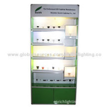 Green Color LED Demo Cabinet for Tubes and LED Downlights Showing with Multifunction Display MeterNew