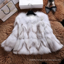 Fast supplier womens winter real fur coat