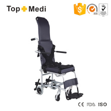 Topmedi Medical Product Economical Lightweight Compact Reclining High Back Wheelchair