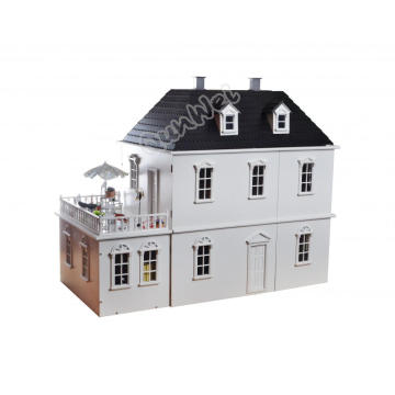 Kit de casa de muñecas de madera de escala 1/12 para montar