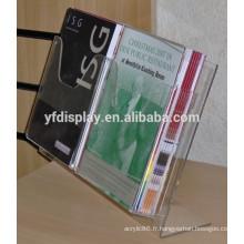 Porte-brochure acrylique clair pas cher, porte-revues acrylique à vendre