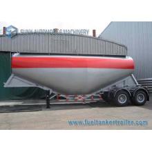 2 Axis V Shape 30 M3 Cement Powder Trailer Container Semi Trailer