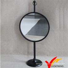 Vintage Antique Metal Mirror Circle