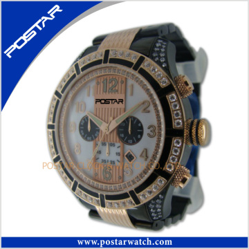 Super Sport Multifunction Watch with Stone Setting Factory Price