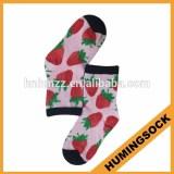 Moisture Wicking Custom Child Sock With Strawberry Digital Printing