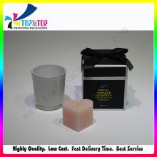 Caja personalizada de la vela con la muestra libre