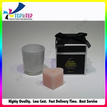 Goldene Folie Hotstamping Kerze Verpackung Box mit Soft Touch Laminierung