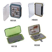 Beliebte Clear Box Wasserdichte Fliegenbox Kunststoff Material Fischerei Box