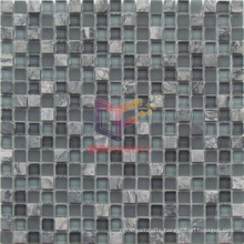 Grey Marble with Glass Mosaic Tiles (CS221)
