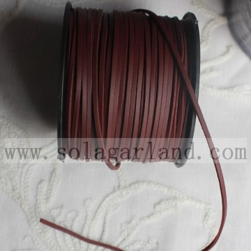 3MM Flat PU Leather Suede Cord For DIY Jewelry Making