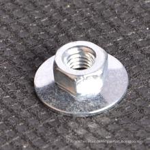 Écrou de disque hexagonal zingué avec type de laveuse plate