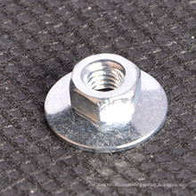 Zinc Plated Hex Disc Nut with Flat Washer Type