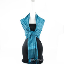 Fashion Reversible colors pashmina Paisley Jaquard