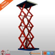 jinan carretilla elevadora de tijera de mano estacionaria barata proyector motorizado plataforma de tijera