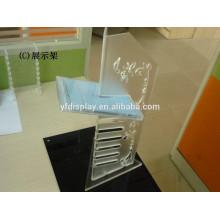 présentoir acrylique de support d'affichage de DVD / CD givré