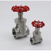 Válvula de compuerta de rosca de acero Stainles con tuerca de rueda manual