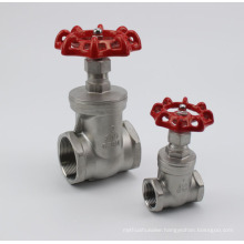 Stainles Steel Thread Gate Valve with Hand Wheel Nut