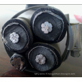 Câbles aériens blindés blindés de 6,35 / 11 kV