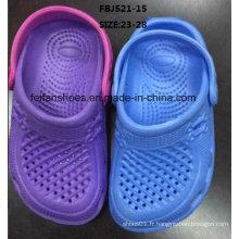 Dernières conception EVA jardin chaussures pantoufles de mode pour les enfants (fbj521-15)
