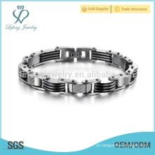 Casal pulseiras de aço inoxidável, pulseira impermeável senhoras
